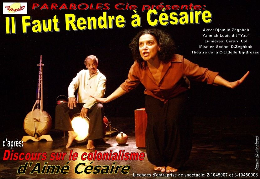 Il Faut Rendre à Cesaire d'après Discours sur le colonialisme visuel-ac-yao